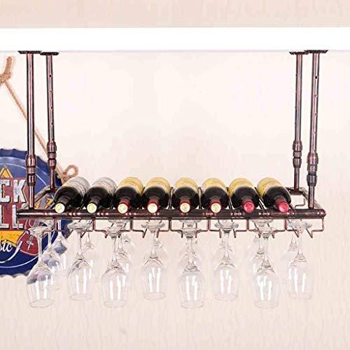 Weinregale Weinglasregal Regal Weinglashalter Weinglasregal Weinglasregal Champagnerglasregal Glasregal Stemware Racks (Farbe: Bronze Größe: 100 * 35cm)
