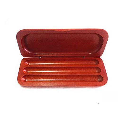 Caja organizadora del colector del almacenamiento de la caja de exhibición de la fuente del lápiz de la pluma de madera de 3 ranuras