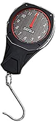 Rapala RCD Báscula Mecánica, 12 kg Capacidad, Negro/Rojo