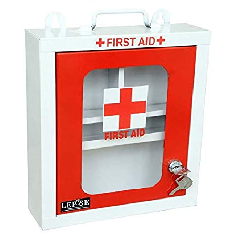 Lepose Wall mountable Metal First Aid Box/Emergency Medical kit/First Aid Box for School, Office/Home,Multi Partation