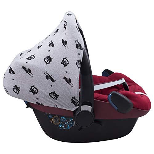 JANABEBE Capota compatible con Maxi-Cosi Pebble Bebe Confort (ROBOT SPACE)
