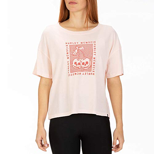 Hurley W Cherry Bomb Flouncy Tee Shirts Femme, Echo Pink, FR : S (Taille Fabricant : S)