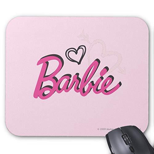 GBZ Alfombrilla de ratón antideslizante para juegos de goma alfombrilla de ratón rectangular para ordenadores portátil-barbie logo con corazones alfombrilla de ratón