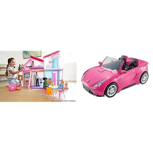 Barbie Casa Malibu (Mattel FXG57) y Coche Descapotable de Barbie (Mattel DVX59)