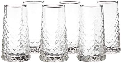 Durobor 832/34 Gem boisson longue verre 340ml, 6 verres, sans repère de remplissage
