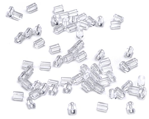 Beads Unlimited kunststof oorbel stopper, transparant, 200 stuks