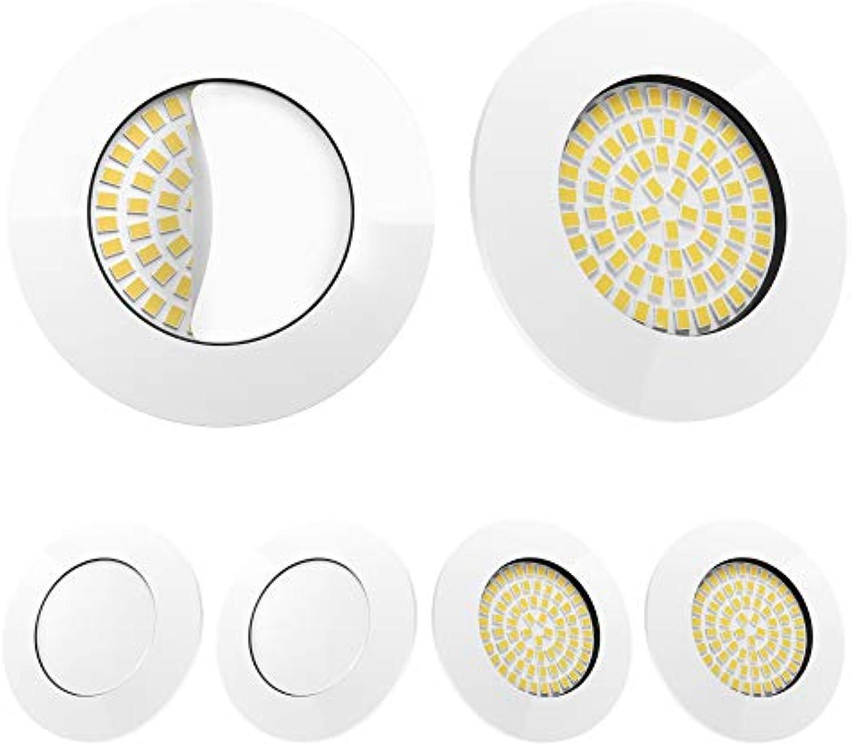 LED Einbaustrahler 6er Set Wei von Scandinavian home   LED Spot Deckeneinbauleuchte ultra flach Badezimmer geeignet   5W 500lm 3000K warmwei 60-68mm 220   230V A++   rund   mit Milchglas