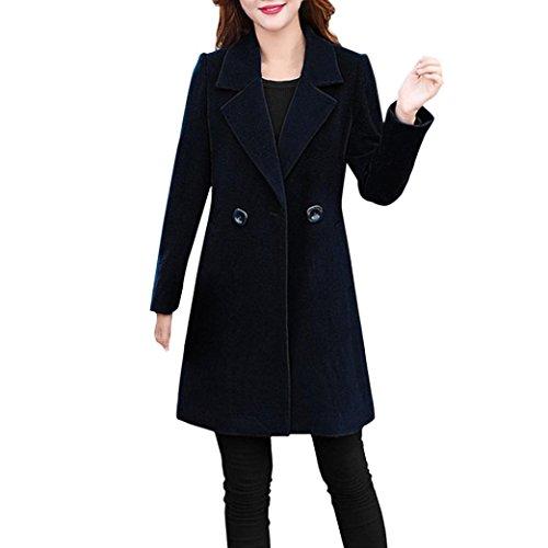NPRADLA Damen Plain long Sleeve Coat schwarz 22 gb / xxx-large