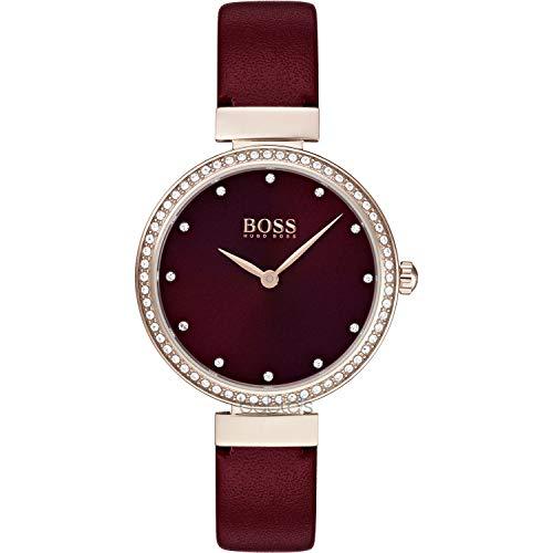 Hugo Boss Reloj Analógico para Mujer de Cuarzo con Correa en Cuero 1502481