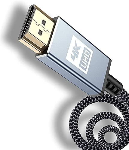 Câble HDMI 4K 5m-Sweguard Câble HDMI 2.0 haute vitesse 18gbps Câble HDMI 2.0 en nylon tressé Prise en charge de la 3D / Retour audio/Lecteur Blu-Ray/Téléviseur/moniteur Ultra HD PS3 / PS4