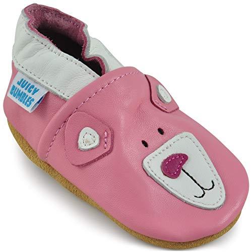 Zapatos Bebe Niña - Zapatillas Niña - Patucos Primeros Pasos - Oso Rosado 6-12 Meses