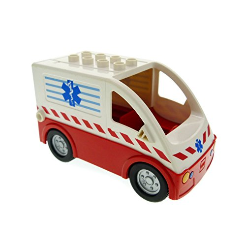 1 x Lego Duplo Transporter rot weiß Krankenwagen...