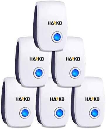 HAZKO Pest Repeller Indoor Pest Reject 6 Packs Ultrasonic Rodent Repellent for Mice Spiders product image