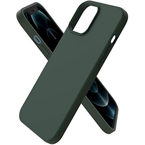 Hikissny Silicona Líquida Funda para iPhone 7 Plus Case, Funda Silicona líquida de Goma Compatible con iPhone 7 Plus Cover, Protección con Forro de Microfibra (Verde Chipre)