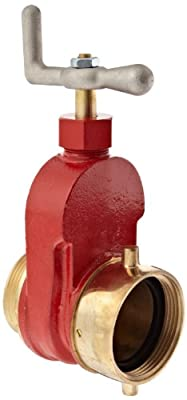 "Dixon Valve & Coupling HGV250F Brass Single Hydrant Gate Valve, 2-1/2"" NST Female x NST Male by Dixon Valve & Coupling"