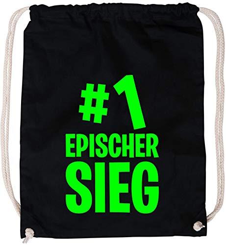 EZYshirt® #1 epischer Sieg Baumwoll Stoffbeutel