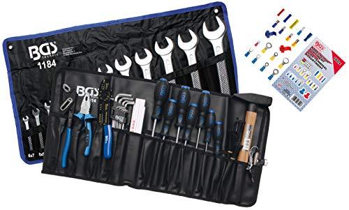 BGS 3322 | Werkzeugsortiment in Rolltasche | 270-tlg. | Profi-Werkzeug-Set für Auto, Motorrad, Haushalt