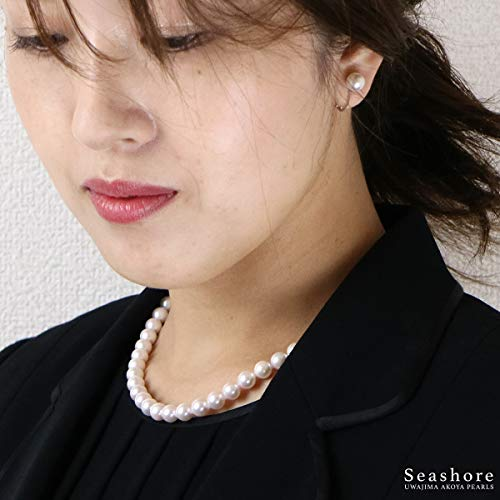 真珠ネックレスセット宇和島産大珠あこや真珠8.5-8.0mmテレビショッピング通販スペシャルセット産地証明と鑑定書付イヤリングセット