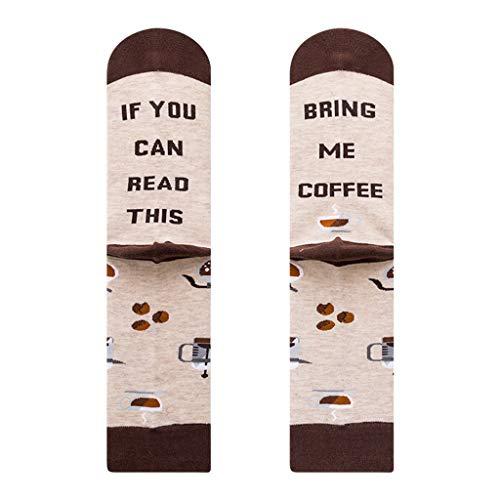 Baiyao Calcetines de algodón con texto en inglés 'If you can read thes', para hombre