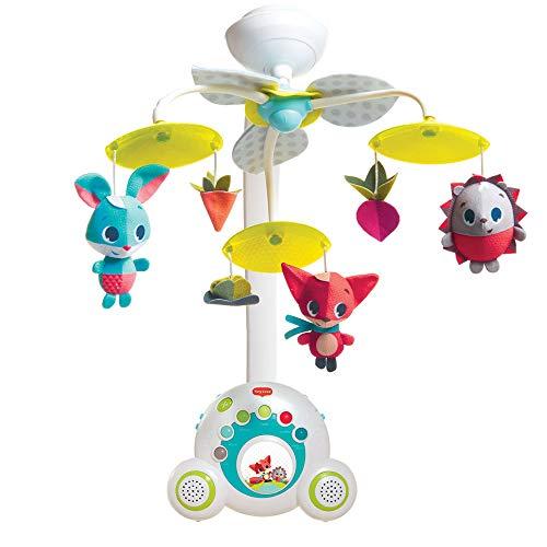 Tiny Love Giostrina neonato per lettino e culla, giostrina musicale con stereo per bambini portatile, carillon fino a 40 minuti di musica, Meadow Days, colore verde