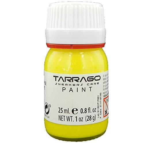 Tarrago | Sneakers Paint 25 ml con Pincel y Esponja | Colores Pantone | Pintura para Sneakers y Zapatillas Deportivas de Cuero, Cuero Sintético y Lona (Amarillo Base 450)