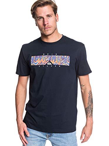 Quiksilver Box Heat - Maglietta da uomo, taglia M, colore: Nero