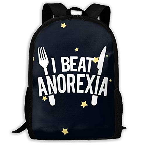 JINGS I Beat Anorexia Travel Bag Uniquely Designed School Bag Apply to Man&Woman