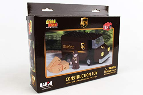 Daron BL99977 UPS 132 Piece Package Car Construction Toy