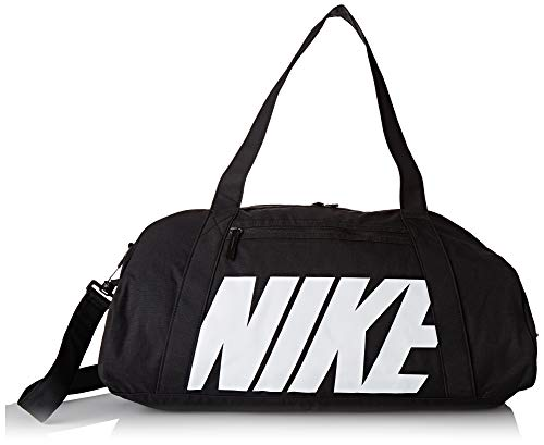 Nike W NK Gym Club, Borsone Donna, Nero (Black/Black/White), 24x15x45 Centimeters