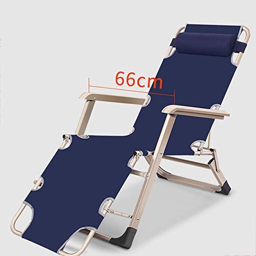 DD- Chaise longue, chaise portative pliante de ménage de chaise de bureau d'hiver de chaise de pause-déjeuner pliante, avec la garniture démontable de coton Sièges extérieurs (Couleur : B)