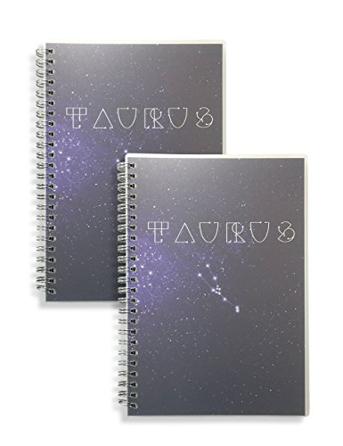 Miliko Zodiac Series Dot Grid A5 Size Wirebound/Spiral Notebook Set-2 Notebooks per Pack, 160 Pages(80 Sheets),Transparent Hardcover (Taurus)