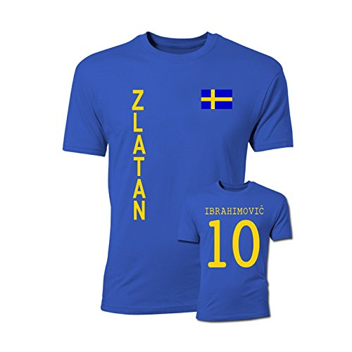Airosportswear Zlatan Ibrahimovic Sweden Flag T-Shirt (Blue)