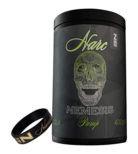 Special Edition GN Laboratories Narc Nemesis Pump PreWorkout Pumpbooster Stim Free Bodybuilding Inkl. Armband - 400g - Ice Tea Peach