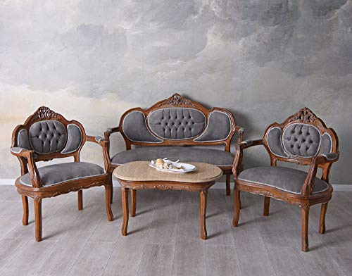 Sofagarnitur Sitzgruppe Barock Sofa Sessel Couchtisch Couchgarnitur cat499g19 Palazzo Exklusiv