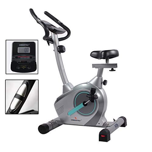 Cyclette Palestra Piscina Interna in Acciaio Attrezzature for Il Fitness Donne degli Uomini Portante 100kg (Color : Gray, Size : 92 * 52 * 134cm)