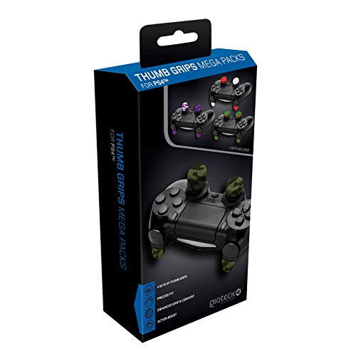 Gioteck TGMP - Thumb Grips pour PS4 - Megapack Protection/Bouchons/Capuchons pour Joystick Playstation 4 - Antidérapant - Aide a viser - Protection Manette PS4 (Lot de 4)