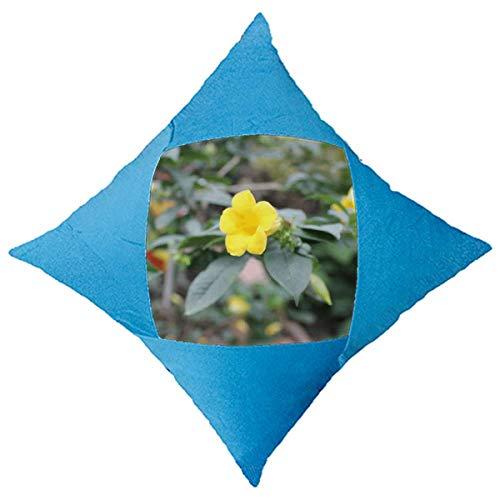 OFFbb-USA - Funda de cojín de ratán con diseño de Flores Amarillas, Funda Azul para decoración de Cama de Coche