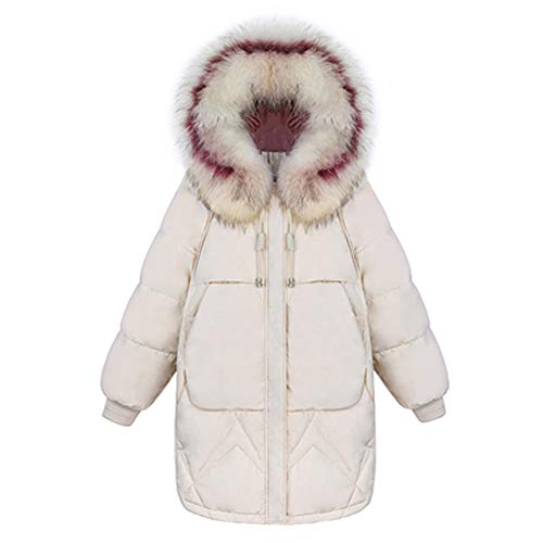 Witte Duck Down Collar Brood Jack, Outdoor Down Jack, Dik en Comfortabel, Geschikt voor Outdoor Activiteiten in de Winter Retro X-Small Kleur