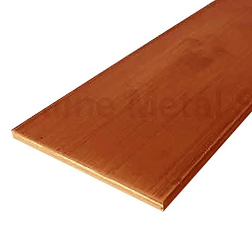 Online Metal Supply C110 Copper Flat Bar, 1/8
