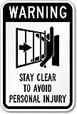 G.H.Y Warnung Automatisches Tor, Abstand halten, um Personenschäden zu vermeiden (Schiebetor-Symbol) Schild-Funny Pub Club Home Bar Mann Höhle Hängende Plakette Geschenk-Schild