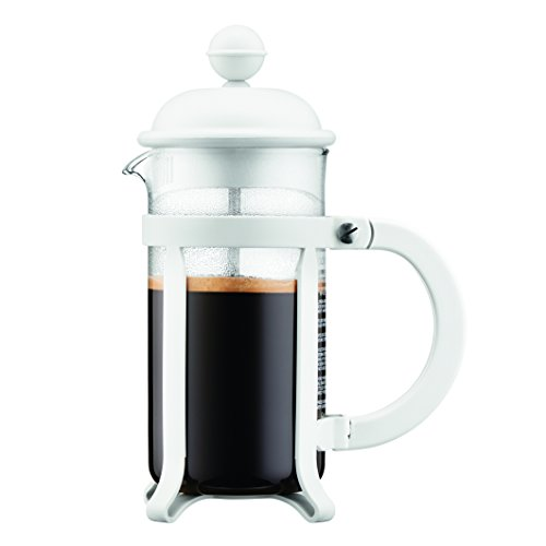 Bodum 1903-913 Java Kaffeebereiter, 3 Tassen, 0,35 L, Mehrlagig, weiß, 7,5 x 13,5 x 18,9 cm