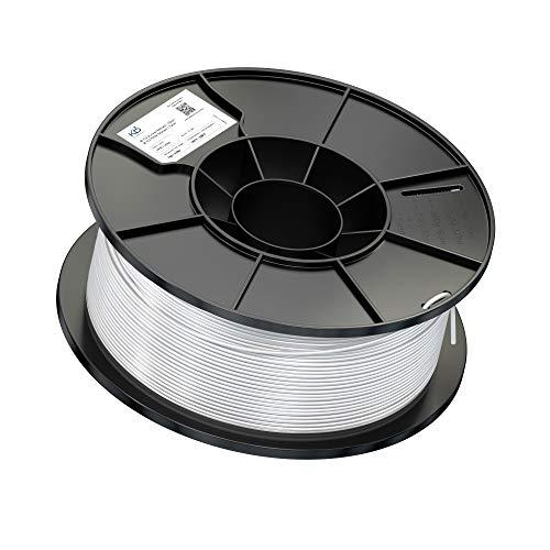 KabelDirekt KD Essentials - PLA Filament 1,75mm - 1kg Rolle (für 3D Drucker oder Stift, saubere Wicklung, Vakuumverpackung) – weiß