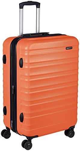 Amazon Basics - Maleta de viaje rígidaa giratoria - 68 cm, Naranja fuerte
