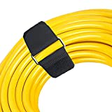 Reusable Fastening Cable Straps with Stainless Steel Buckle, Assorted 10 Pack(4 Small,4 Medium,2 Large) Securing Straps, Adjustable Nylon Hook and Loop Cinch Cable Ties