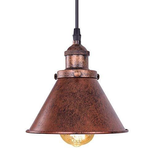 XFZ Hanger rustiek licht industial uniek vintage smeedijzeren plafondhanger met schaduw kegel voor restaurant keuken slee in antieke afwerking Moho