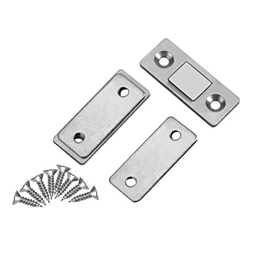 Yosoo 2Pcs Door Catch Latch Ultra Thin Strong Magnetic Catch with Screws for Home Furniture Cabinet Cupboard