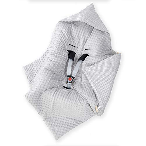Amilian Baby Einschlagdecke, Decke, Babydecke, Fußsäck, Kuscheldecke mit Kapuze, universal für Babyschale, Autositz, Buggy Kinderwagen ca. 90x90 cm, Baumwolle, Baby Car Seat Blanket B01