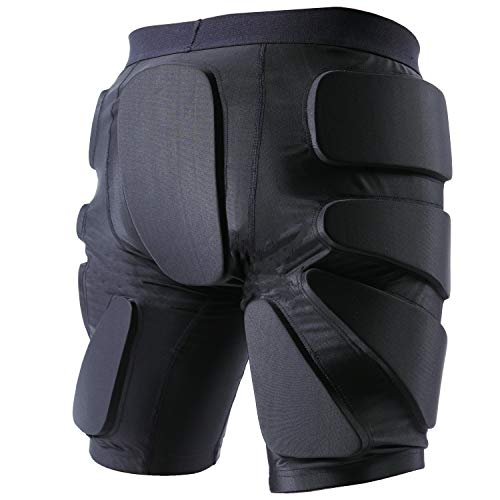 TFO Protective Padded Shorts Breathable Durable for Skateboard, Snowboard Black
