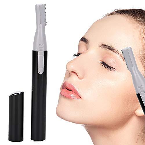 Cortapelos para el oído y la nariz, cortapelos para cejas y vello facial sin dolor 2020 para hombres y mujeres, cortapelos eléctrico para axilas de acero inoxidable con luz LED