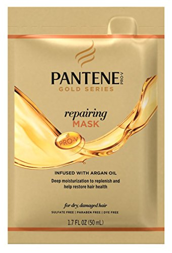 Pantene Gold Series Mask Repairing 1.7 Ounce Packette (10 Pieces) (50ml)